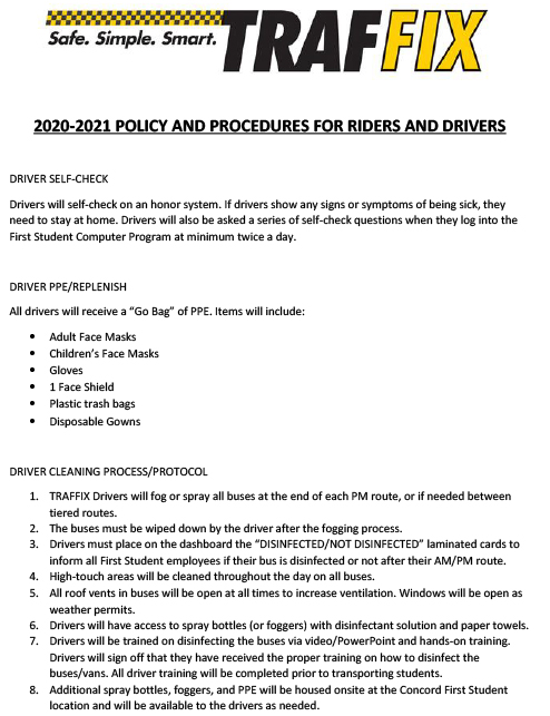 2020-2021 Policy and Procedures